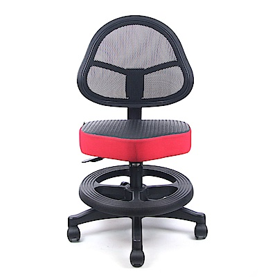 【DR. AIR】 兒童氣墊椅墊網椅-紅黑
