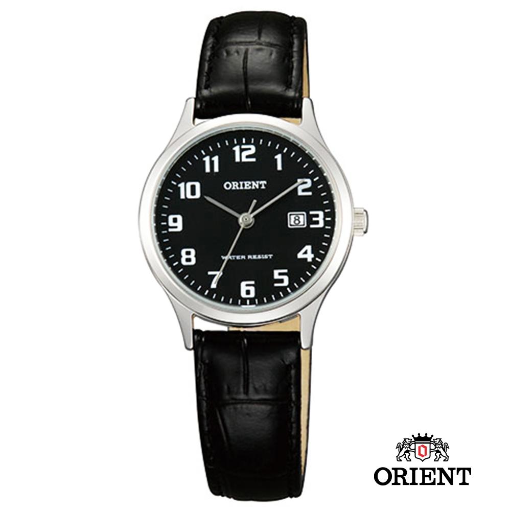 ORIENT 東方錶TRADITIONAL STYLE系列 復古石英女錶-黑/28mm
