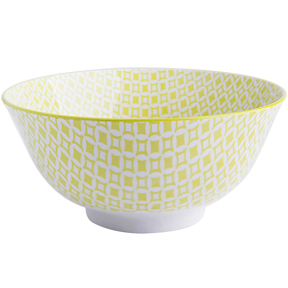 EXCELSA Oriented瓷餐碗(菱紋綠15.5cm)