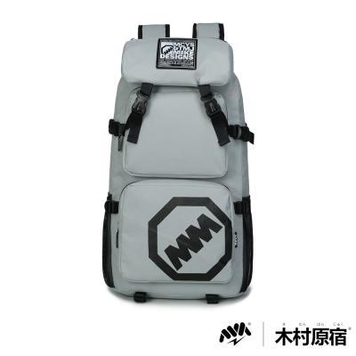 木村原宿MM-CAP袋-日式潮男排扣筆電登山包-個