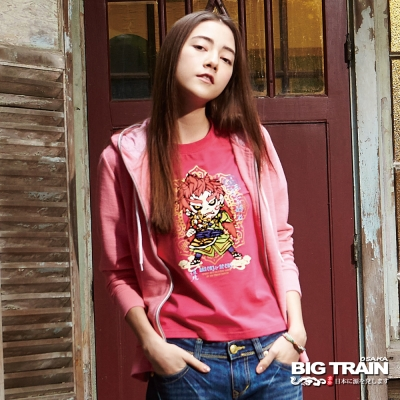 BIG-TRAIN-女款出芽針織外套-女-粉紅