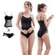 無鋼圈內衣 透氣背心成套內衣S-XL(黑) Naya Nina product thumbnail 1