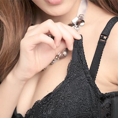 【ThreeShape】舒適哺乳 C-F罩內衣(晶鑽黑)