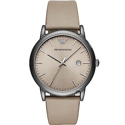 Emporio Armani Classic 都會時尚石英手錶-灰/42mm