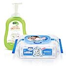 貝恩 NEW嬰兒保養柔濕巾/箱+nac nac 酵素奶瓶蔬果洗潔慕斯罐裝/1罐