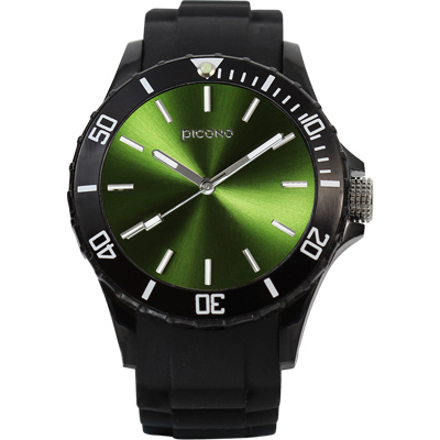 PICONO BALLOON COLOR 時尚腕錶-橄欖軍綠/ 48 mm