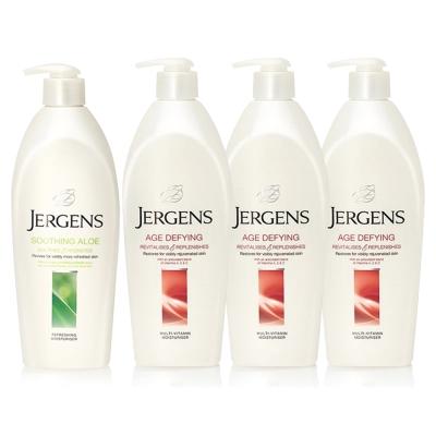 JERGENS珍柔 美體護膚保濕乳液650ml-蘆薈x1+維他命x3