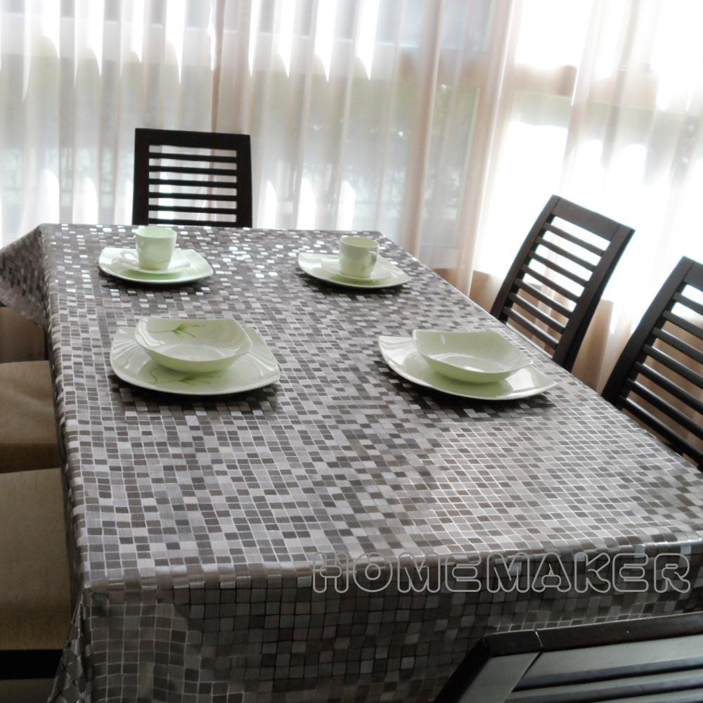 小方格金屬壓紋桌巾(長180cmX寬137cm)_RN-PW151-48-C5