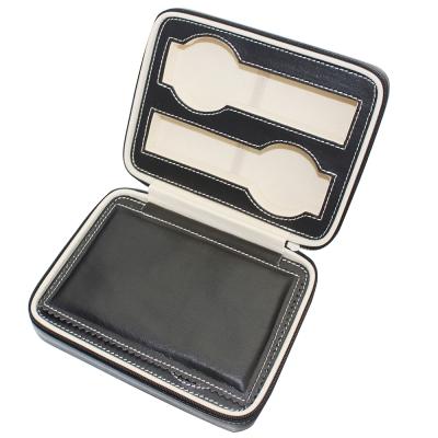 PARNIS BOX精緻隨身錶盒 皮革4只裝 質感黑色 附鎖 (皮革05) 現貨