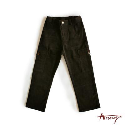 氣質雙邊大口袋素面長褲*2489咖啡