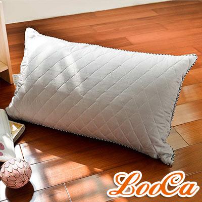 LooCa 可水洗抗菌竹炭棉枕 1入