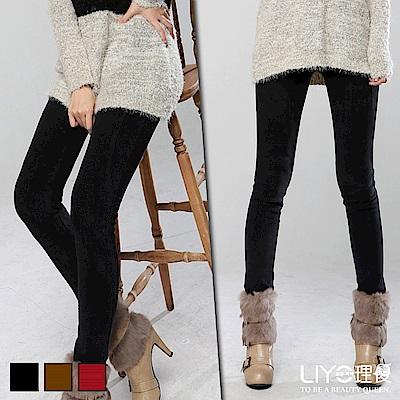 LIYO理優鉛筆褲顯瘦窄管鉛筆褲(紅,咖啡,黑)