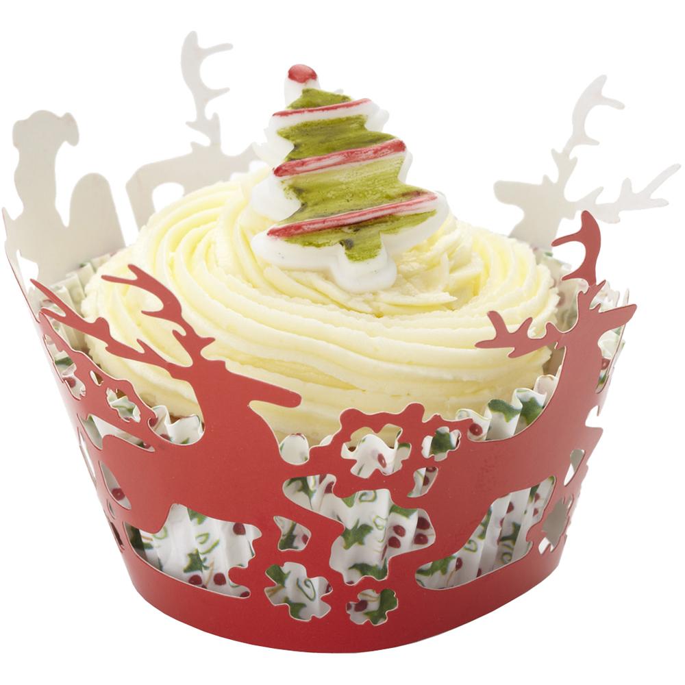 Sweetly 杯子蛋糕圍邊紙12入(聖誕)
