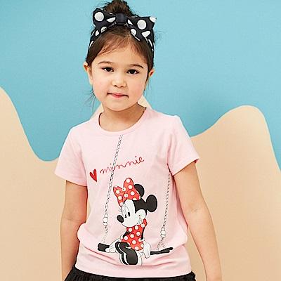 Disney 米妮系列夏日樂遊圓領上衣 (共2色)