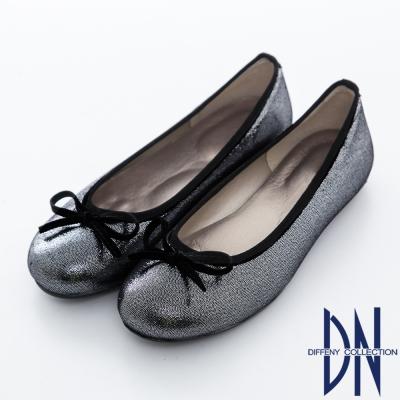 DN 台灣製造 簡約百搭蝴蝶結豆豆底娃娃鞋 灰