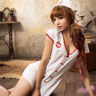 護士服 注射迷戀二件式護士角色扮演服(白F) Lorraine