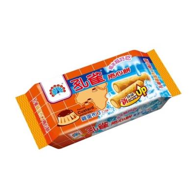 孔雀 捲心餅-雞蛋布丁口味(63g)