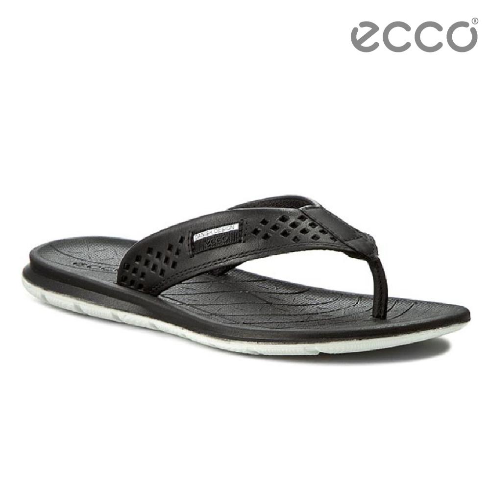 ECCO INTRINSIC TOFFEL 休閒人字拖鞋-黑