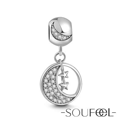 SOUFEEL索菲爾 925純銀珠飾 擁星之月 吊飾