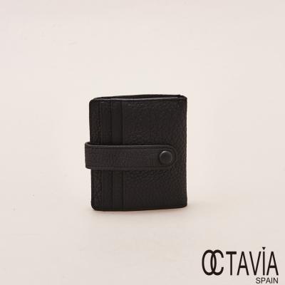 OCTAVIA天使的翅膀極薄式二折式卡片小短夾中黑