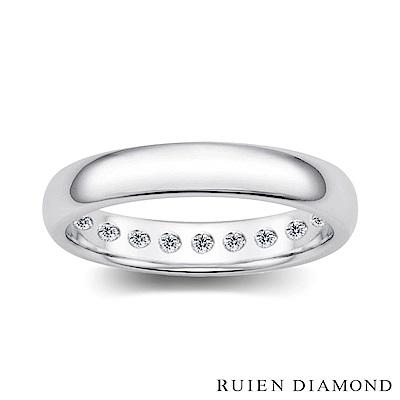 RUIEN DIAMOND  鑽石 結婚對戒 戒圈 18K白金 男戒