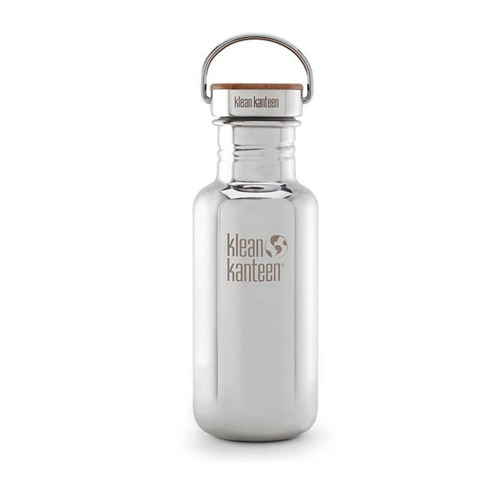 美國Klean Kanteen不鏽鋼瓶532ml-鏡面鋼(竹片鋼蓋)