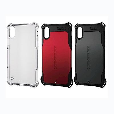 ELECOM iPhoneX ZEROSHOCK防撞手機殼-黑