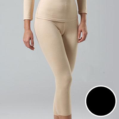 華歌爾-中空保暖M-LL長褲(時尚黑)