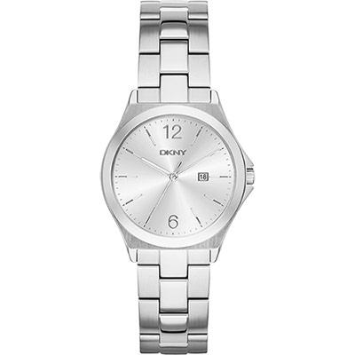 DKNY 紐約佳人都會腕錶-銀/34mm