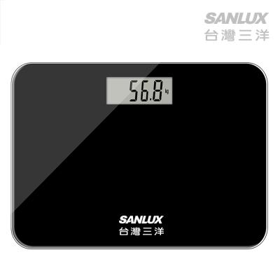 台灣三洋 SANLUX 數位家用體重計 體重機 SYES-301M 黑色/白色