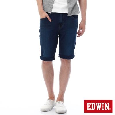 EDWIN 迦績褲JERSEYS紅腰頭短褲-男-石洗綠