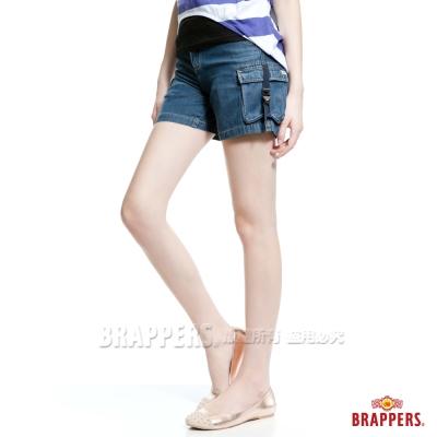 BRAPPERS Boy Friend Jeans系列-女用天絲棉熱褲-藍