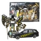 《凡太奇》合金鋼鐵汽車變形機器人(大)-黑