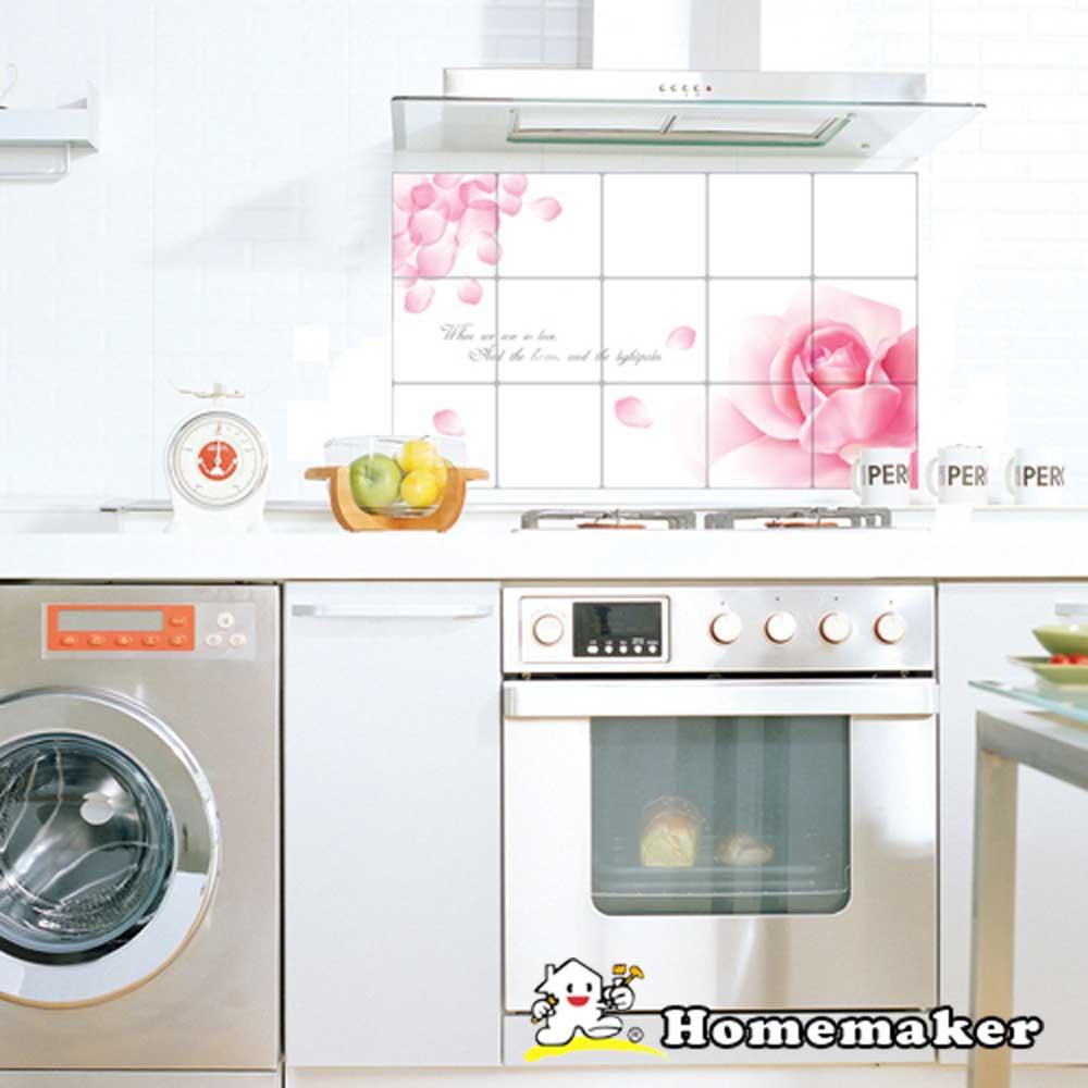 Decoin【柔情玫瑰】廚房鋁箔壁貼1入(HS-AL08)