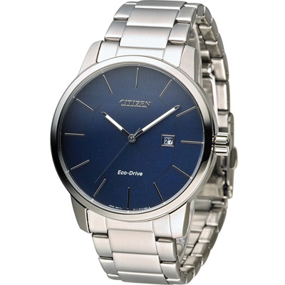 CITIZEN 光動能質感穩重時尚腕錶(BM6960-56L)-藍/43.8mm