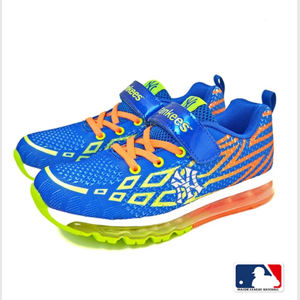 MLB大聯盟洋基網布設計避震氣墊運動鞋童鞋款