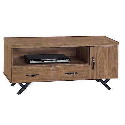 品家居 莉達3.8尺胡桃木紋長櫃/電視櫃-115x40x52cm免組