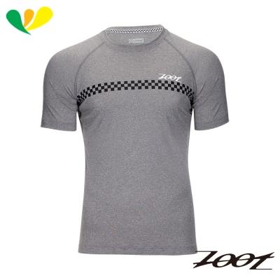 ZOOT 頂級極致型輕羽級吸排運動跑衣(男) Z1704023(格紋灰)
