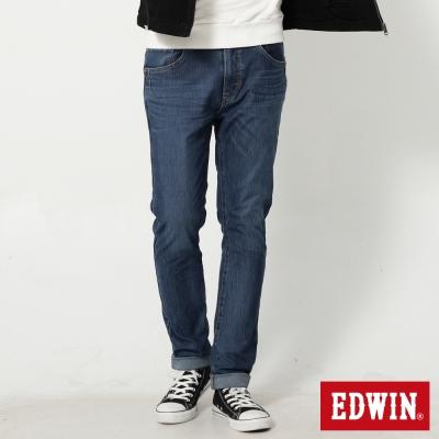 EDWIN 加大迦績褲 JERSEYS漸層袋花直筒牛仔褲-男-石洗綠