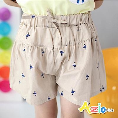 Azio Kids 童裝-短褲 動物剪影傘擺休閒短褲(卡其)