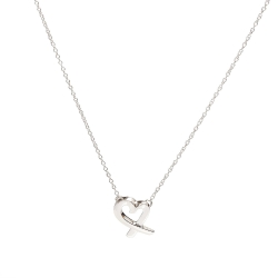 TIFFANY&Co. Loving Heart系列925純銀愛心吊墜項鍊(銀)