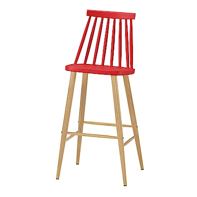 品家居 莎莉柏高腳吧台椅2入組合(四色可選)-47x48x107cm免組
