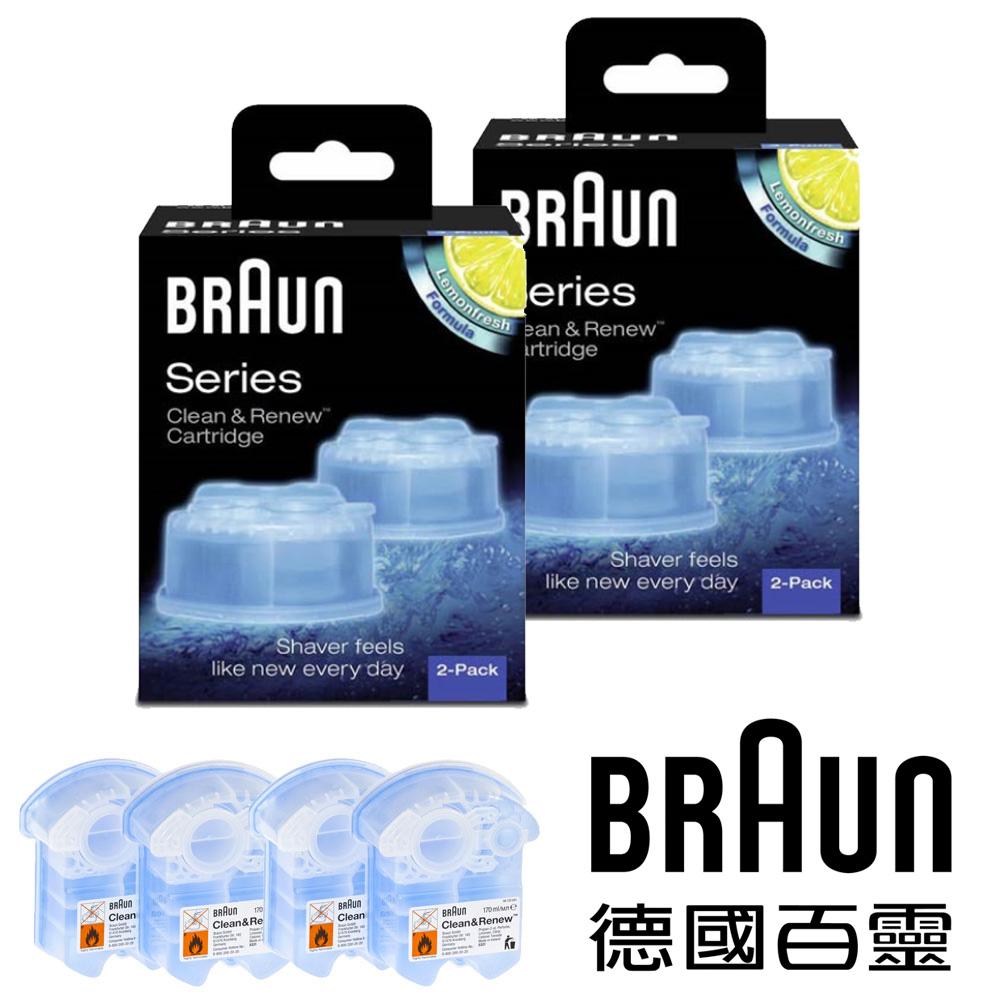 德國百靈BRAUN-匣式清新檸檬清潔液5331701(2盒4入)*德國百靈週*