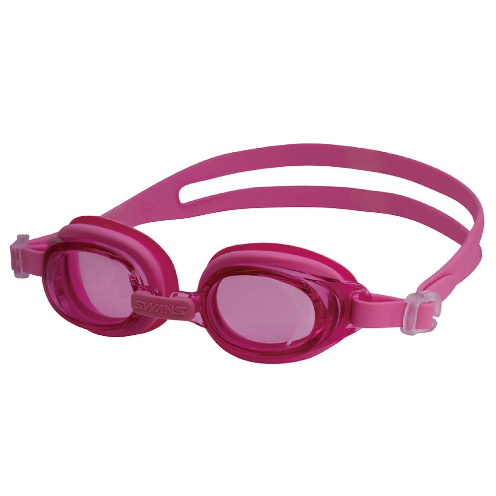 【SWANS 日本】專業光學兒童專用泳鏡 ( 防霧/抗UV/矽膠 SJ-7 粉紅)