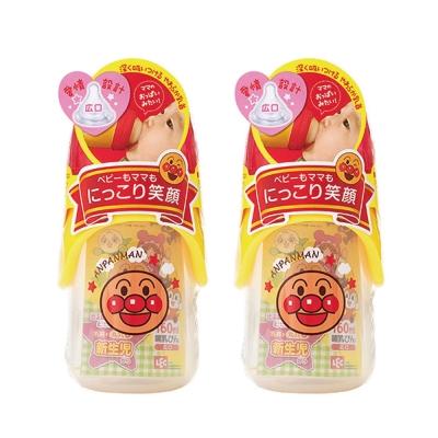 麵包超人-AN麵包超人寬口型奶瓶 160 ml(圓孔)( 0 m+)- 2 件組
