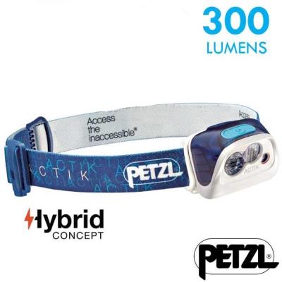 【法國 Petzl】新款 ACTIK 超輕量高亮度頭燈(300流明)_藍