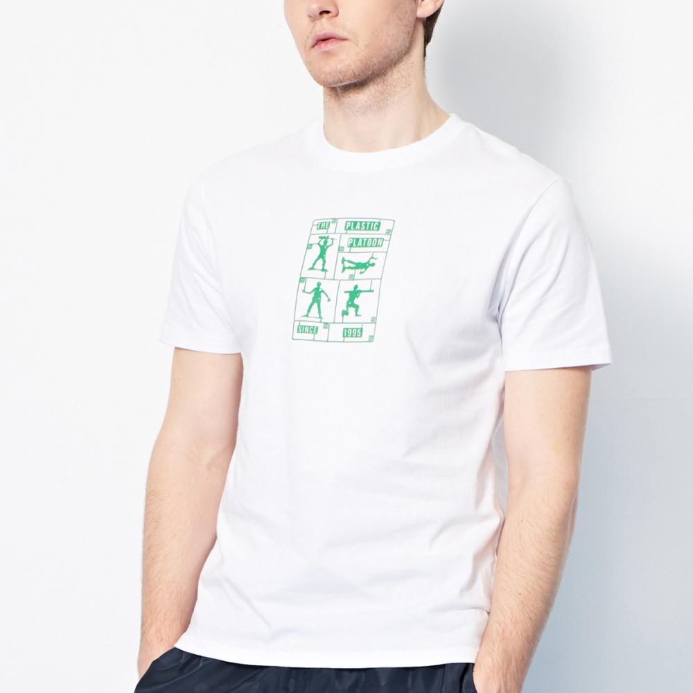 CACO-綠色小兵款短T-男