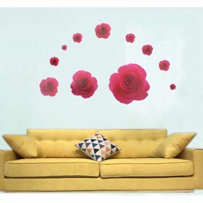 A-035花草系列-玫瑰風情 大尺寸高級創意壁貼 / 牆貼