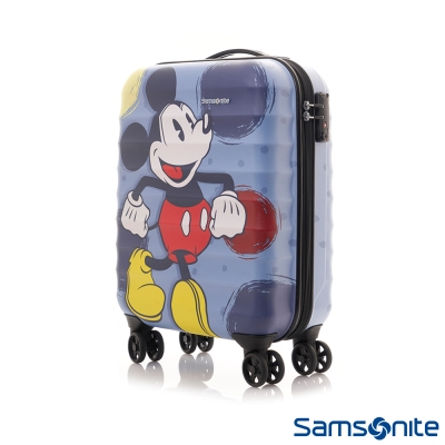 Samsonite新秀麗-Diseny米奇聯名款20吋TSA防刮登機箱-霧面藍