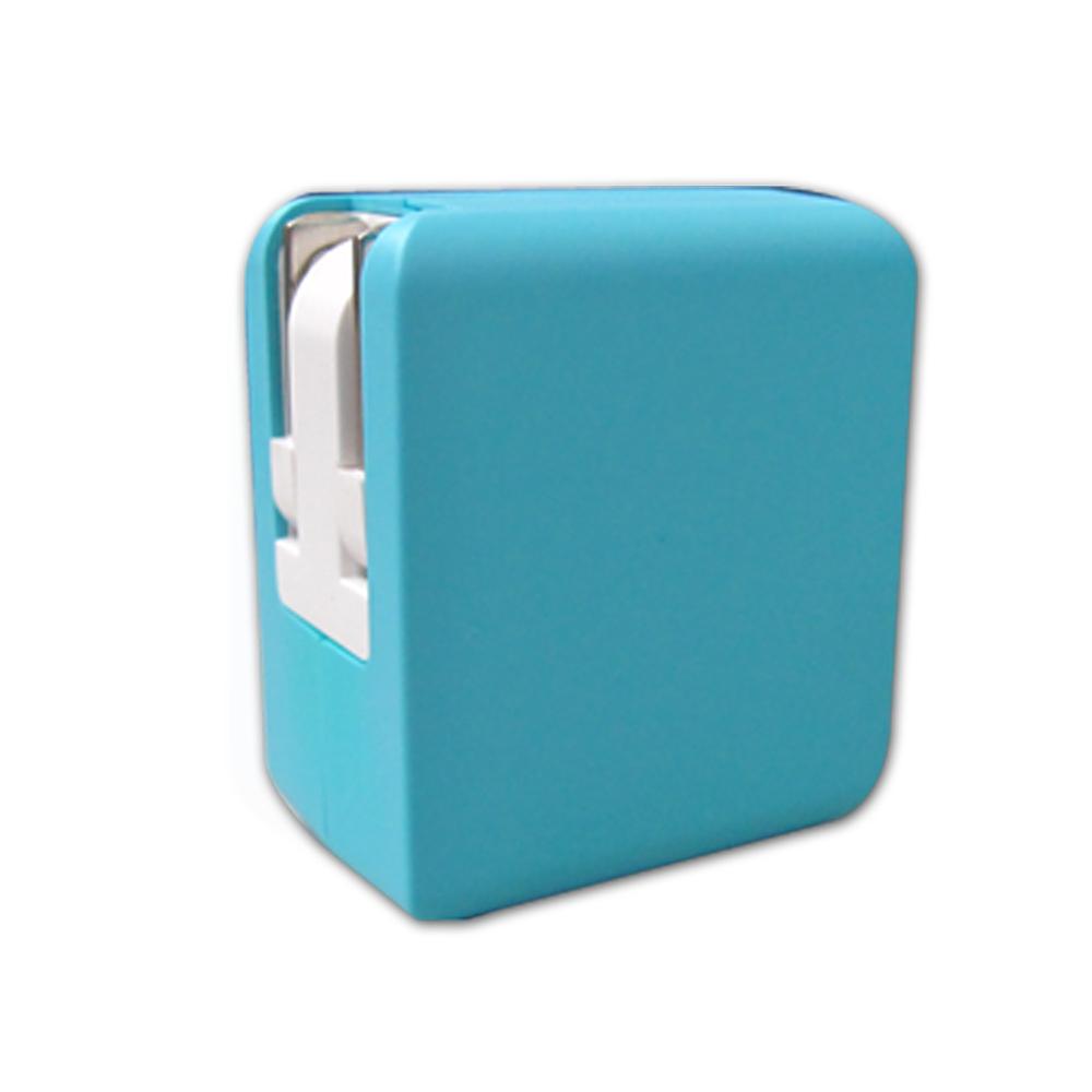 WELLY 彩色方塊 雙USB快速旅充/充電器 5V/2.1A -台灣安規認證
